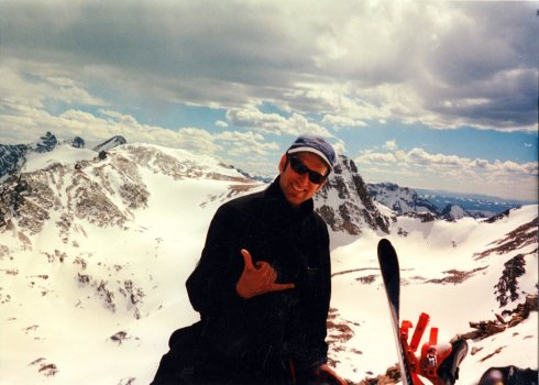 Joel on top of mountain