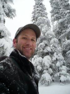 Joel- photo of self- snow