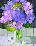 Hydrangeas detail by Linda Santell